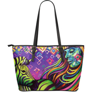 The Zebra - Large Leather Tote Bag