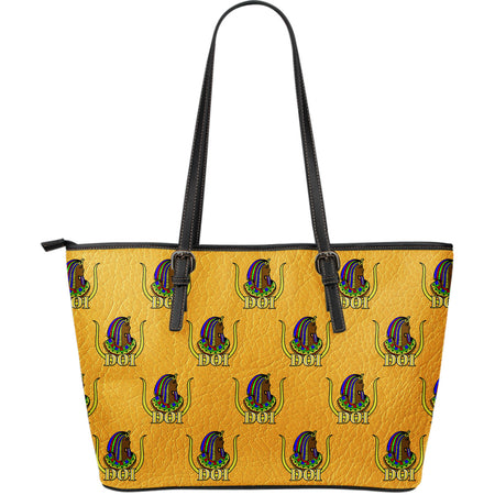 DOI Large Leather Print Tote - Assorted Colors - JaZazzy