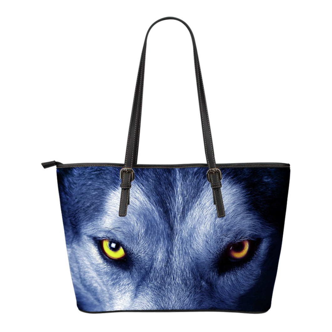 Blue Malamute Small Leather Handbag - JaZazzy