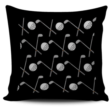 Golf Design Pillow Case - Black - JaZazzy