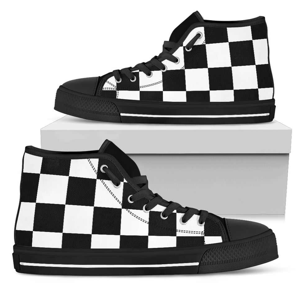 Checkered Men's High Top - JaZazzy