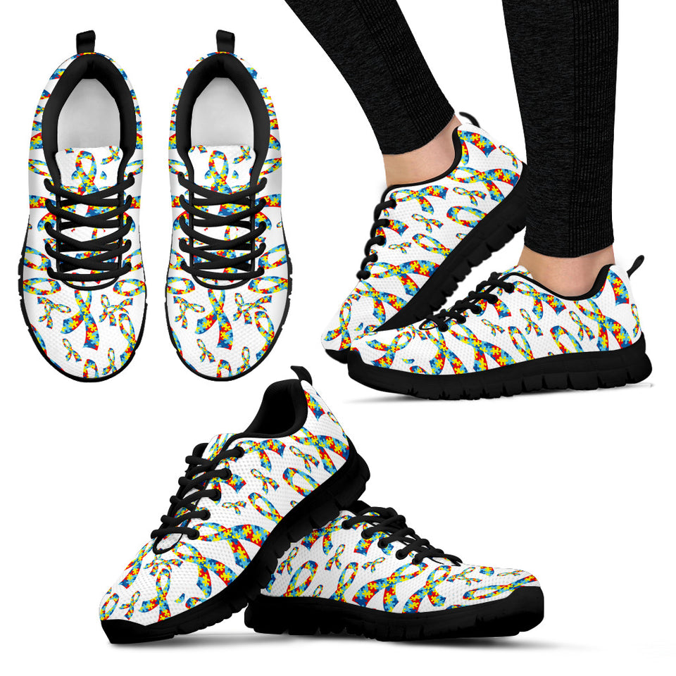 Womens Autism Awareness Ribbon Sneakers - JaZazzy