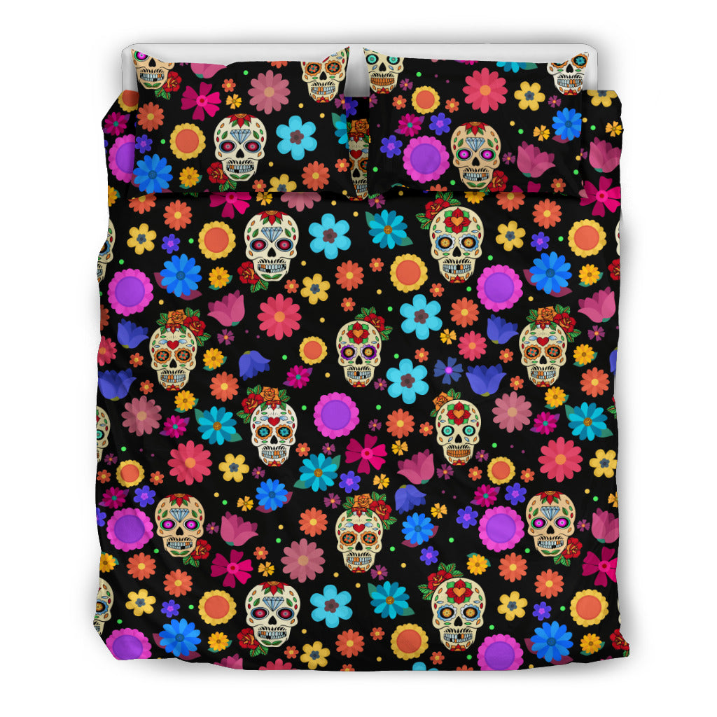 Sugar Skull Party Bedding Set - JaZazzy