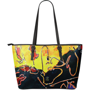 Black and yellow  Large Tote Bag - JaZazzy