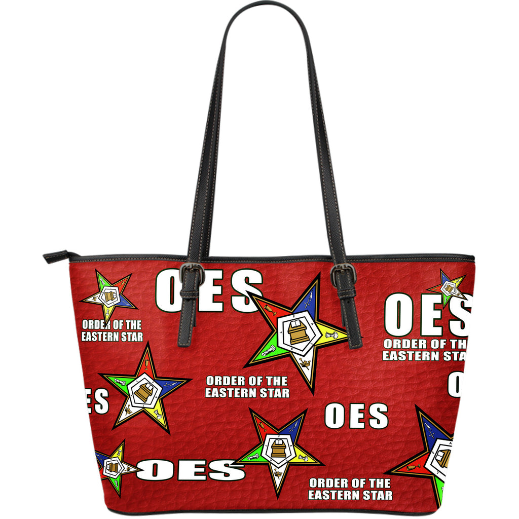 OES Large Leather Print Tote - Assorted Colors - JaZazzy