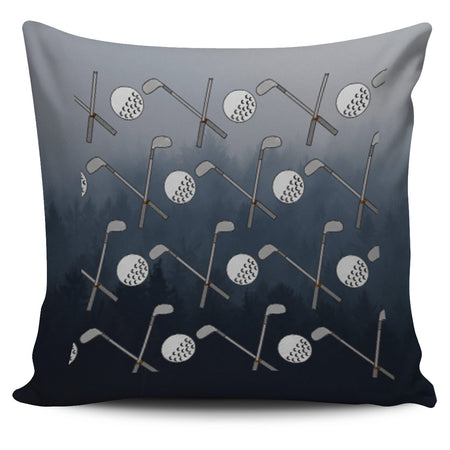 Golf Design Pillow Case - Black - Grey - JaZazzy