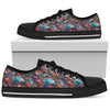 Abstract Oil Paintings P1 - Women's Low Top Shoes (Black) - JaZazzy