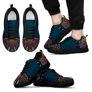 Colorful Elephant Handcrafted Sneakers - JaZazzy