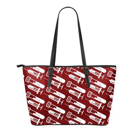 Phlebotomist Small Leather Tote Bag - JaZazzy