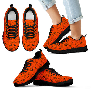 ORANGE/BLACK Open Road Girl Kid's Sneakers - JaZazzy