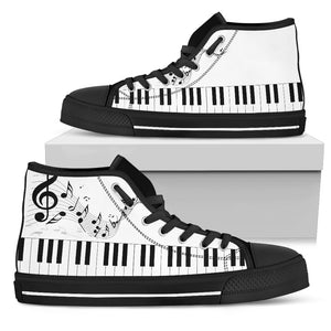Music Lovers High Top Black - JaZazzy