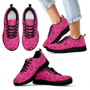 PINK/BLACK Open Road Girl Kid's Sneakers - JaZazzy