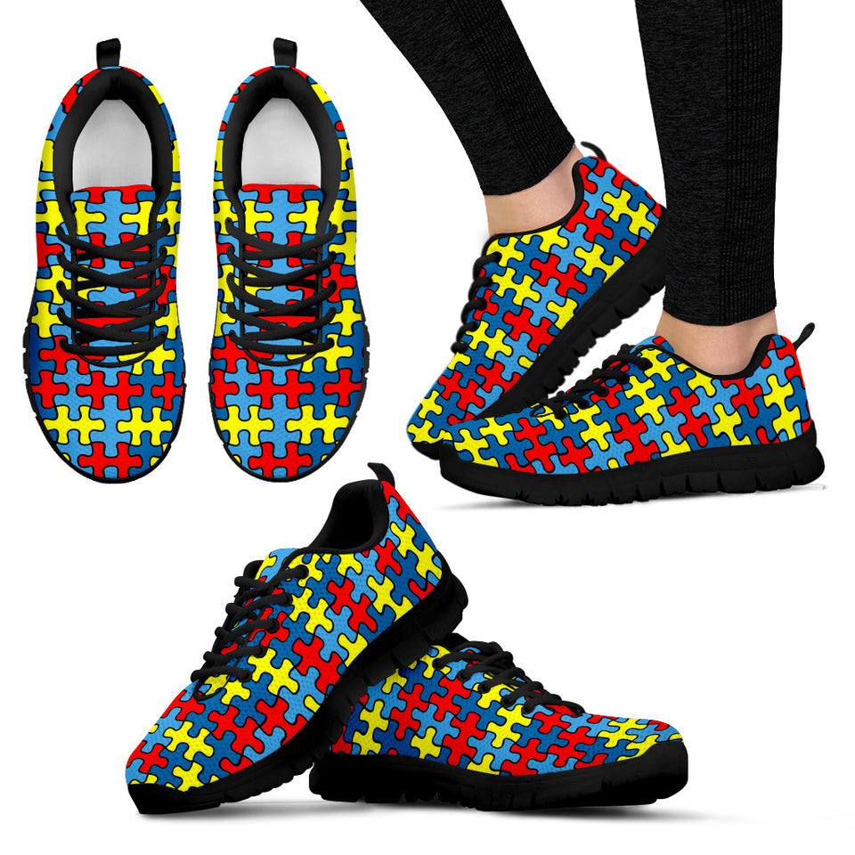 Autism Pattern 3 Sneakers - JaZazzy