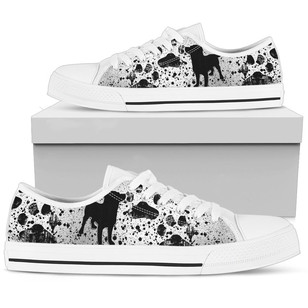 Dreaming Of Dogs White Low Top Sneaker - JaZazzy