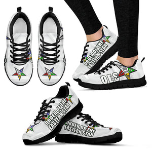JZP-Order of the Eastern Star Whiteish Sneaker-011 - JaZazzy