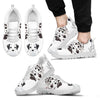 Dog Sneakers White Men's Sneakers - JaZazzy