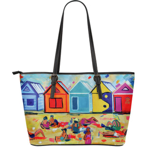 Colored barns Large Tote Bag - JaZazzy