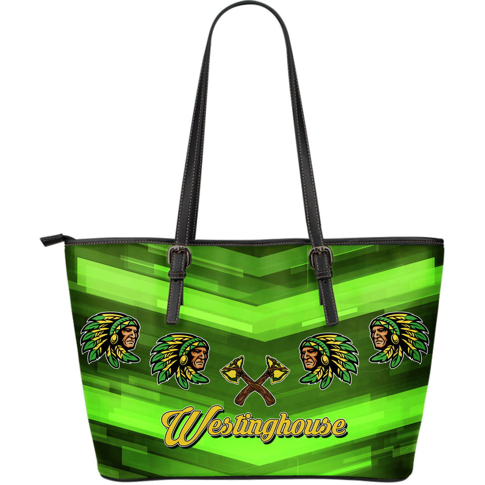 Westinghouse_Chgo- LG Leather Tote_Green - JaZazzy