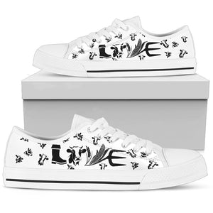 Cow Lovers Women's Low Top Shoes - JaZazzy