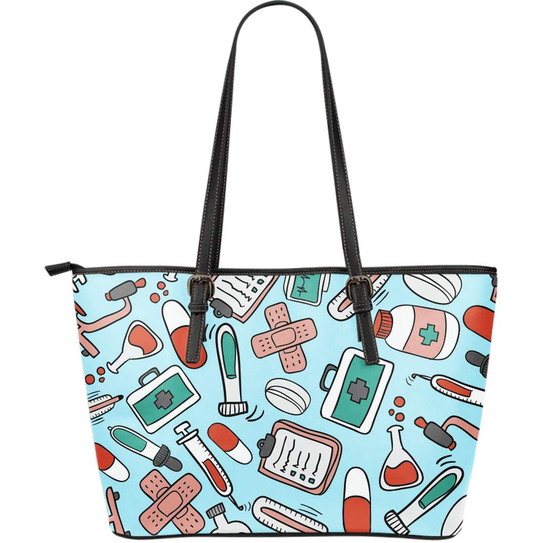 Pharmacy Technician Large Leather Tote Bag - JaZazzy