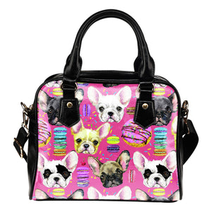Dog graphic on handbag