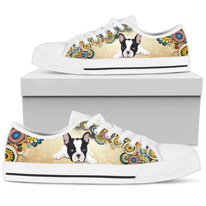 French Bulldog Women's Low Top - JaZazzy