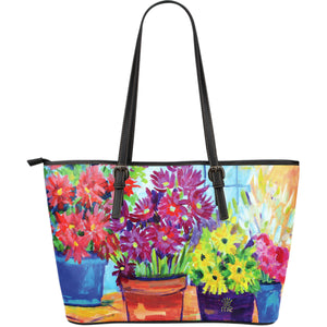 Flowery Large Tote Bag - JaZazzy