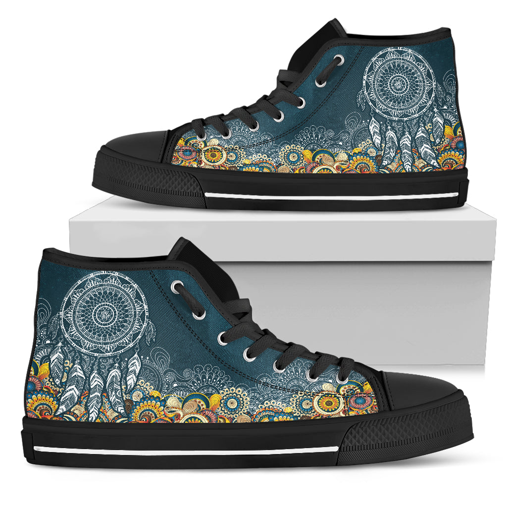 Womens Dream Catcher Fractal High Top - JaZazzy