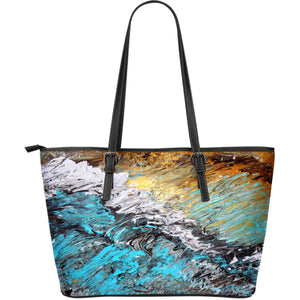 Large Tote - Abstract Sand and Surf Design - JaZazzy