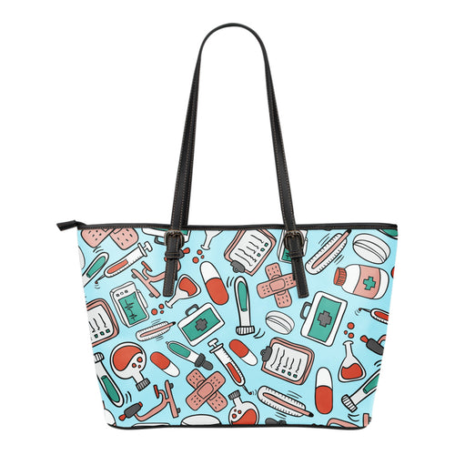 Pharmacy Technician Small Leather Tote Bag - JaZazzy
