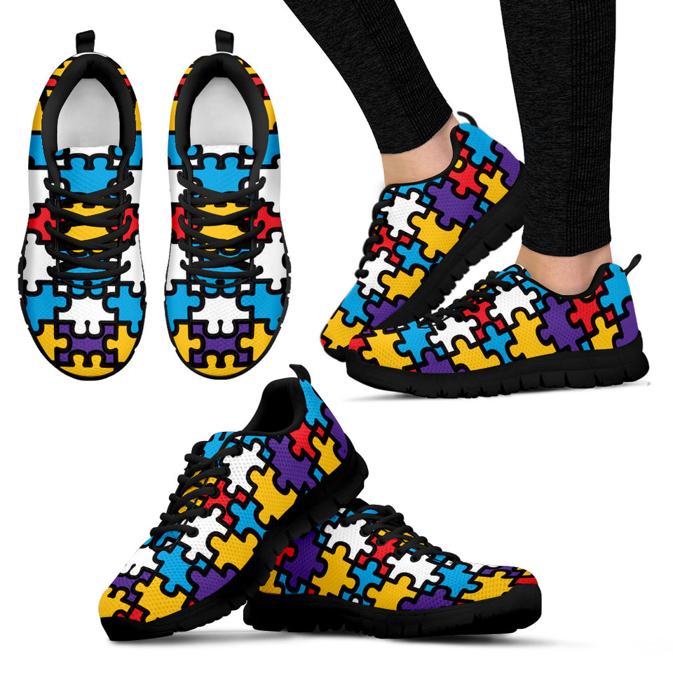 Autism Pattern Sneakers - JaZazzy
