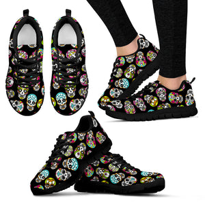 Coco inspired -Sugar Skull Sneakers-Women - JaZazzy