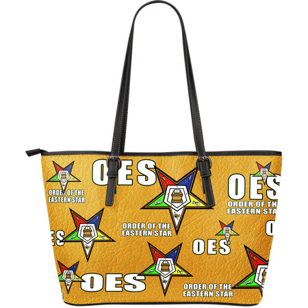 OES Lg Leather Print Tote - Assorted Colors - JaZazzy