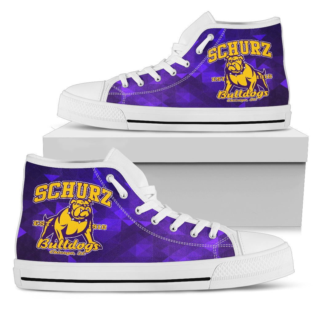 Schurz Bulldog Purple Classic High Top_Women - JaZazzy