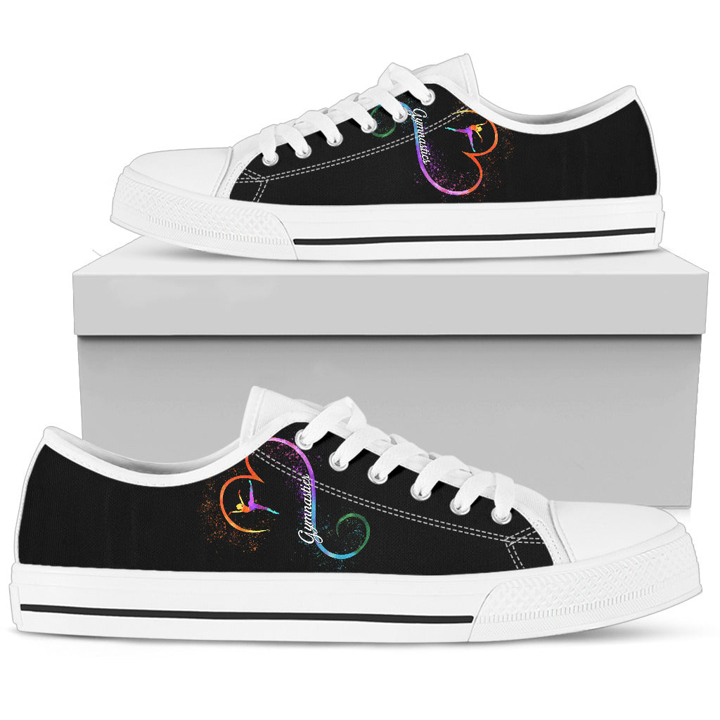 Gymnastics Lovers Low Top Shoes White - JaZazzy