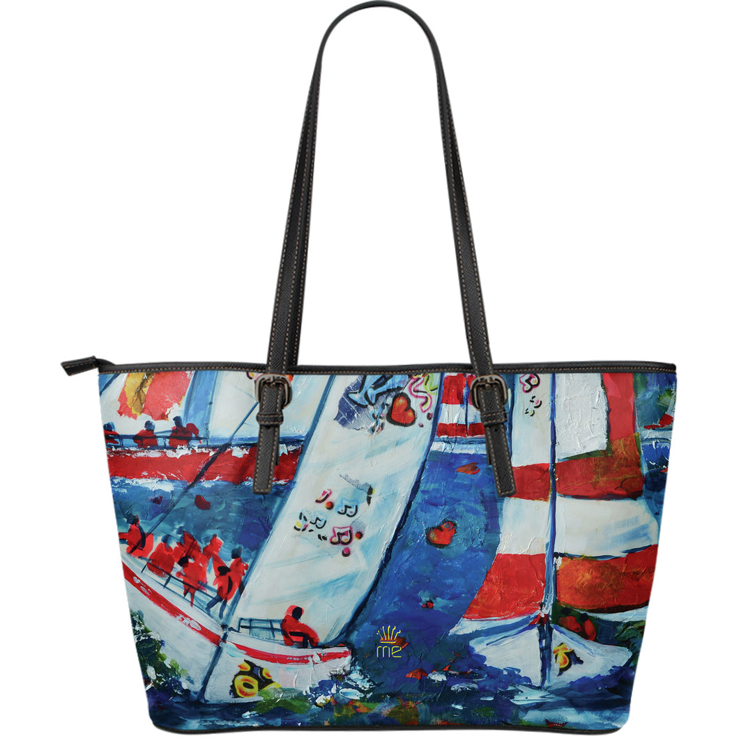Sailboat picture Large Tote Bag - JaZazzy