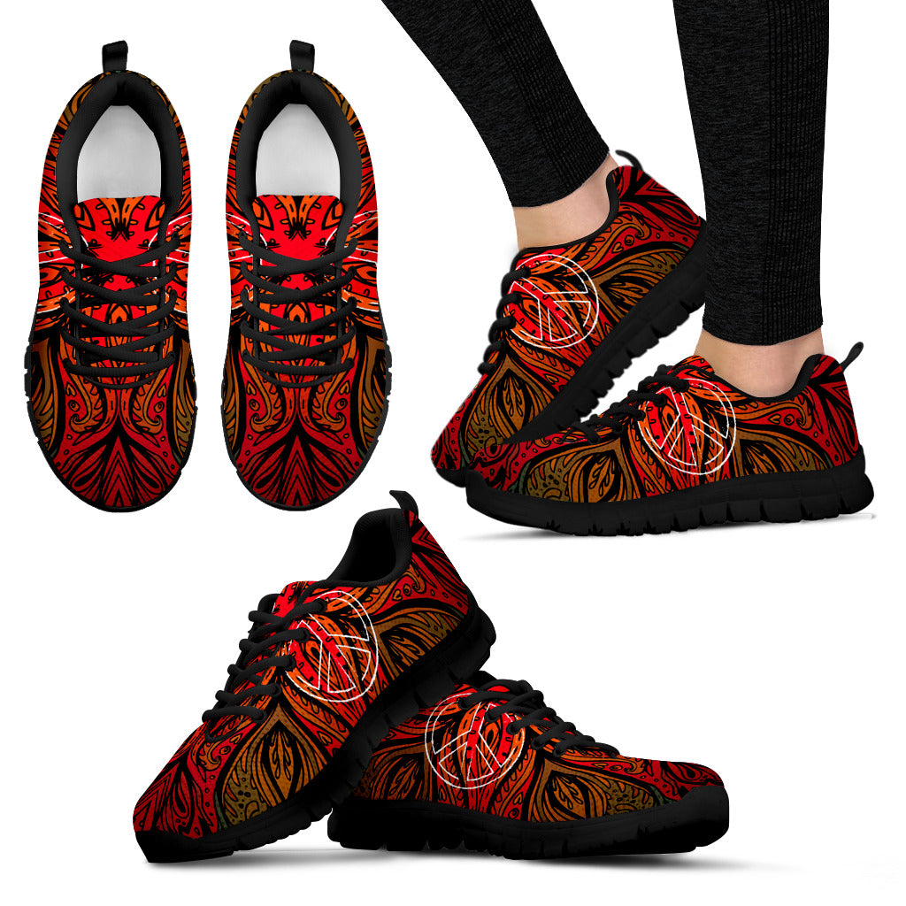 Womens Spiritual Peace and Henna Sneakers - JaZazzy