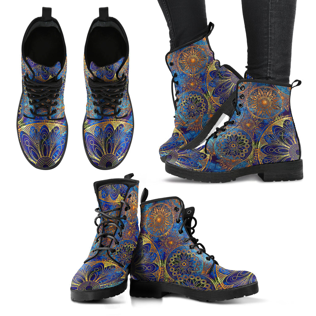 Handcrafted floral ornament 1 Boots - JaZazzy