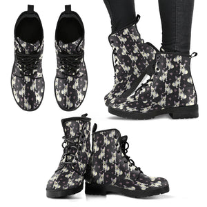 French Bulldog - Women's Leather Boots - JaZazzy