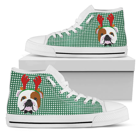 Reindeer Bulldog Women's High Top - JaZazzy