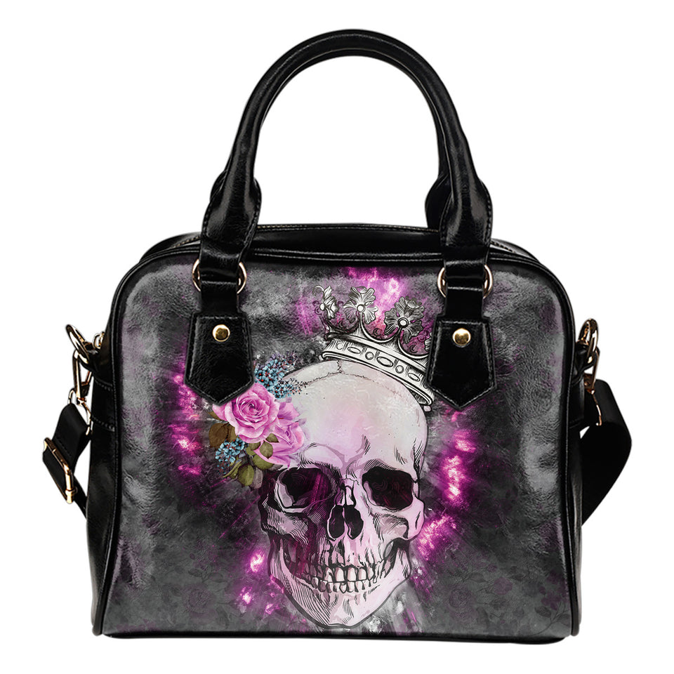 Skull Wearing Crown Shoulder Handbag - JaZazzy