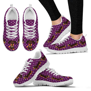 Purple sneakers, white soles, duchhunds - JaZazzy