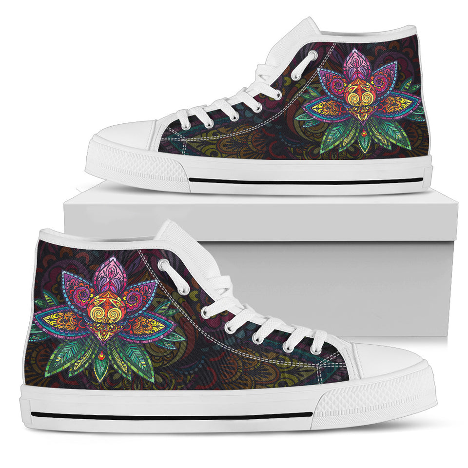 Womens Sugar Lotus Mandala High Top. - JaZazzy