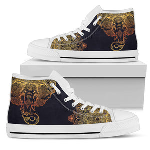 Womens Gold Elephant High Top. - JaZazzy