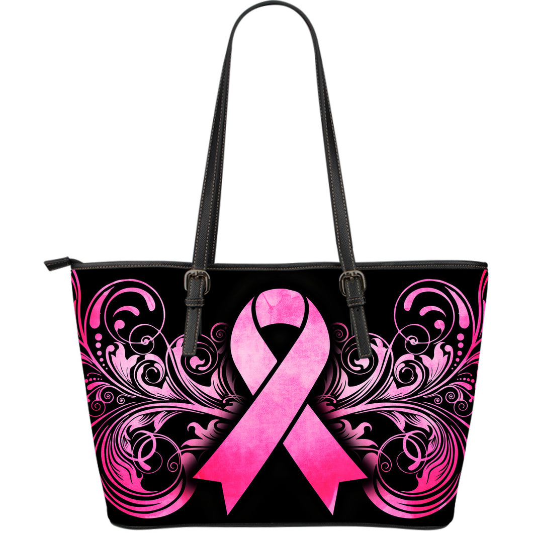 Breast Cancer Awareness Leather Tote Bag - JaZazzy