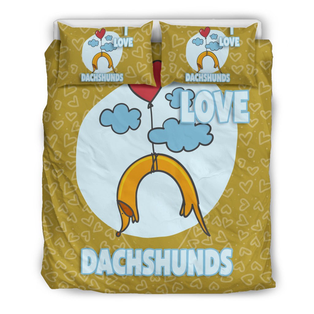 Love Dachshunds bedding set - JaZazzy