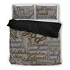 Grey Holy Bible Books Black Bedding Set - JaZazzy