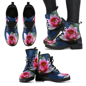 Beautiful Lotus Handcrafted Boots - JaZazzy