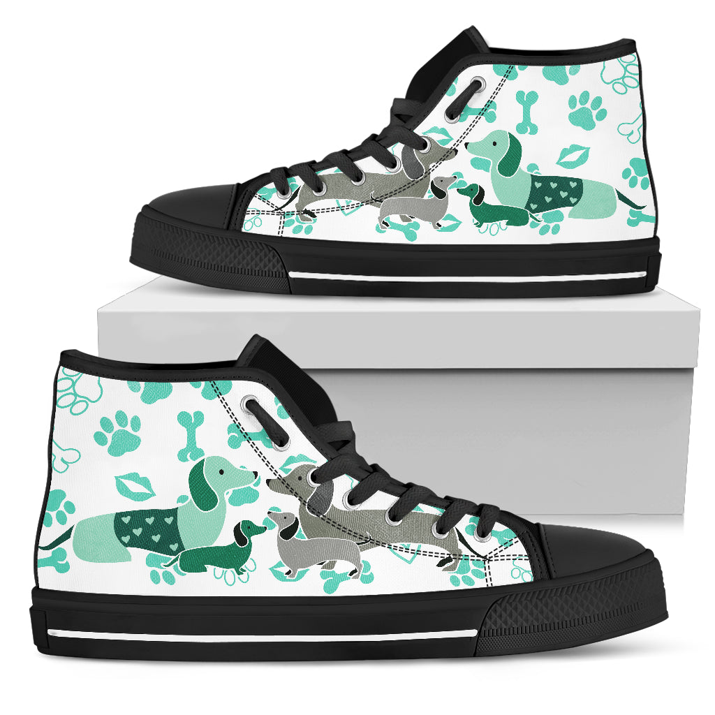 DACHSHUND HIGH TOP CANVAS SHOE - JaZazzy