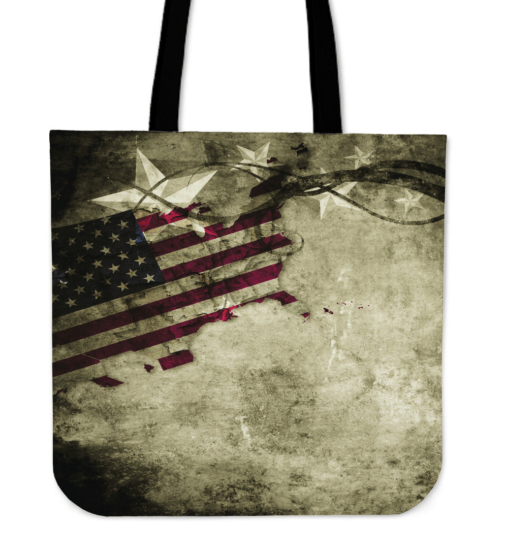 Sepia Flag Tote Bag - JaZazzy